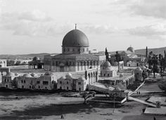 مسجد قبة الصخرة المشرفة، القدس، فلسطين ١٩٤٥ Dome of the Rock, Jerusalem, Palestine 1945 Cúpula de la Roca, en Jerusalén, Palestina 1945