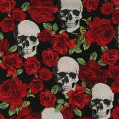 Funky Monkey Fabrics Inc. - Black Skulls