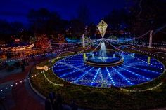 Christmas in Philadelphia -- holiday light show in Franklin Square