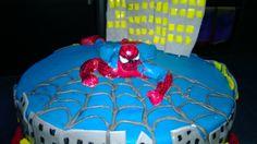 Cake Spiderman, red, blue, grey, torta uomo ragno, rossa, blue, grigia,pasta do zucchero, mmf, pdz, fondant