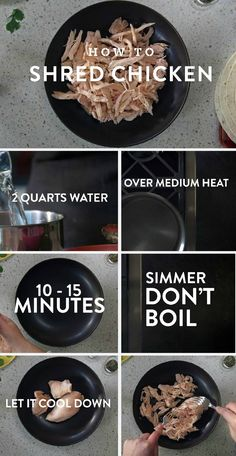 How to Shred Chicken: Click here to learn how to cook and shred chicken—a staple…