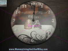 """For All Time Clocks Personalized Design 18"""" Wall Clock"""