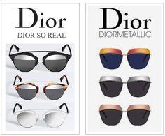 Dior So Real ou Metallic? Ah, eu quero os dois!!!!! #oculos #de #sol #lindo #color #oticas #wanny