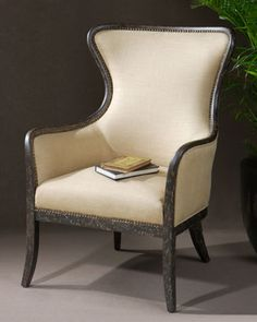 Zander Wing Chair at Horchow.