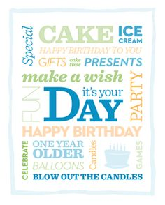 Decorate your home with this #free birthday boy printable on his big day!  http://www.parents.com/printables/decorative-printables/?socsrc=pmmpin130617bpBirthdayBoyPrintable