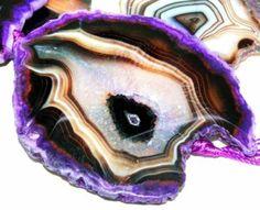 gemspleases : Freeform Purple Agate Slab Gemstone Loose Beads 4pc