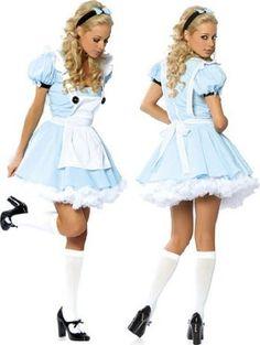 Amazon.com: Sexy Alice In Wonderland Costume - SMALL/MEDIUM: Clothing