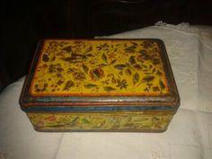 ON SALE Antique  Art Nouveau 1900's Tin Box  by SophieLadyDeParis, $34.20