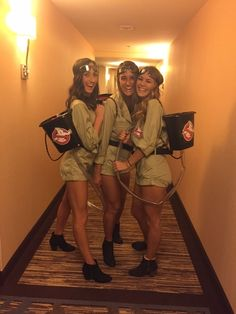 Brilliant ghostbusters costume women - New Ideas - Halloween Costumes Women Girl Group Halloween Costumes, Cute Group Halloween Costumes, Couples Halloween, Halloween Kids, Costumes Kids, Halloween College, Halloween Recipe, Halloween Games, Halloween Projects
