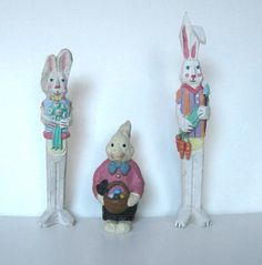 Lot of 3 Vintage Bunny Figurines Home Decor by jewelryandthings2