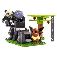 "So neat! - Pancham Pokemon Ionix Pokemon Battle Playset - Forest -Pancham vs Eevee 30701 - Spin Master - Toys ""R"" Us | Check out more pancham Pokemon FAN ART AT POKEPINS.COM | #pokemon #gottacatchemall #pancham #electrode #moltres #lileep #delibird #lombre #rufflet #paras #hypno #kadabra #geodude #pikachu #charmander #squirtle #bulbasaur #ferokie #haunter #garydos #roselia #mew #mewtwo #shiny #teamrocket #teammagma #ash #misty #brock"