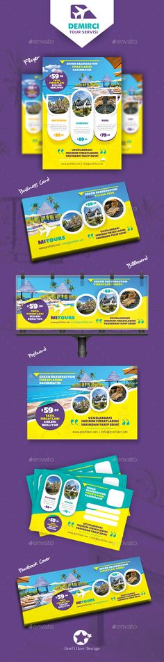 Travel Tours Bundle Templates  — PSD Template #swimming #print • Download ➝…