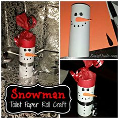 Snowman activities: Snowman toilet paper roll craft. Could also make these and put treats inside.