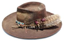 The Copper Osprey Hand Painted Custom Lone Hawk Hat Daniel Slowik Leather Suspenders, Leather Hats, Fancy Hats, Cute Hats, Western Hats, Cowboy Hats, Western Wear, Vintage Purses, Vintage Hats