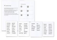 Ik heb het spelletje rol lees en hou ( gezien in het engels) gemaakt met de woorden van veilig en vlot van kern 8. Je kan ze op deze manier voor elke kern maken.  Kaarten lamineren. Woordjes uitprinten op gekleurd papier, want anders schijnen ze door.Dobbelsteen erbij en klaar is je spel.