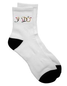 TooLoud I Do - Bride Adult Short Socks