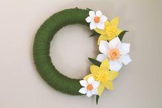Felt Daffodil Wreath. $35.00, via Etsy.