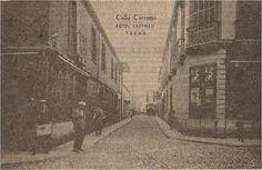 """Ángulo de Arias y Araguez (General Carrera, en el cautiverio) con San Martín, antes calle """"Comercio""""."""