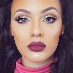 Loving this eye, lip and lash combination By @viva_glam_kay  #makeupinspo
