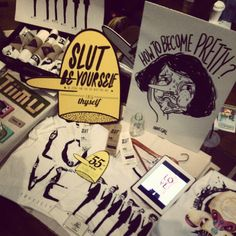 jolinwashere at #pipitzakka last #artmarket in #pasarseni | #artsmarket #KL #print #typography #drawing #sketches #slut #pretty #ugly #beauty