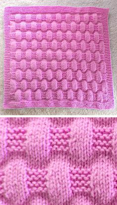 Free Knitting Pattern for Easy Jordan Baby Blanket - This easy blanket is knit with just knit and purl stitches to create a puffy texture. Size is easily customizable. Rated easy by Ravelrers. Designed by marianna mel. Baby Hat Knitting Patterns Free, Knit Patterns, Free Pattern, Loom Knitting, Knitting Stitches, Free Knitting, Knitted Dishcloth Patterns Free, Knitted Baby Blankets, Knitting Projects