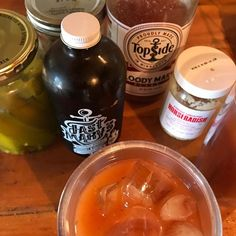 Local Bloody Mary with @fastmarys13 bloody enhancer and @farmhousepantry Top Side bloody mix with dilly beans from Grandma Kathy #weeklydish #burntsidelake #stephaniesdish #bloodymary #fastmarys #madeinmn #mnmakers #makersofmn #cocktail #its5oclocksomewhere
