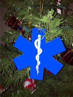 Emergency Stuff - Star of Life Ornament, $6.50 (https://www.emergencystuff.com/star-of-life-ornament/)