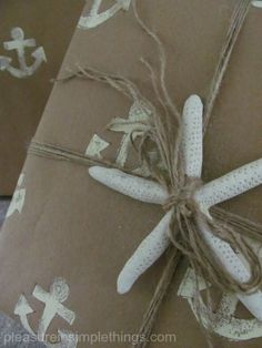 diy nautical wrapping paper