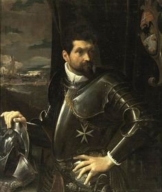 CARRACCI, Lodovico. Portrait of Carlo Alberto Rati Opizzoni in Armour. 1597-1600. Oil on canvas. (Private collection)
