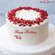 Write Name On Cake, Birthday Cake Write Name, Birthday Cake Writing, Birthday Wishes Cake, Birthday Wishes And Images, Cake Name, Happy Birthday Cakes, Wishes Images, Mum Birthday