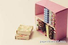 Modular Origami Bookcase – Video Tutorial, Learn how to make a cute modular origami bookcase! Easy to follow step by step video tutorial, you will need 2 pieces of paper...  #book #bookcase #cute #cute origami #kawaii #mini #origami #video #video tutorial Read more at http://www.paperkawaii.com/2014/06/16/modular-origami-bookcase-video-tutorial/