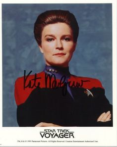 Captain Kate Mulgrew Star Trek Voyager Autographed Signed Movie 8 X 10 RP Photo - (Mint Condition) @ niftywarehouse.com #NiftyWarehouse #StarTrek #Trekkie #Geek #Nerd #Products