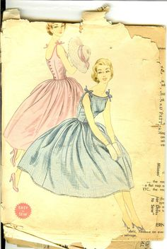 How darling! Vintage Party Dress 50s Vintage Sewing Pattern McCalls 3260 Size 14  Bust 32. $22.00, via Etsy.