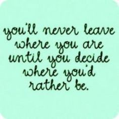 You'll never leave...