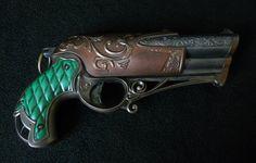 Steampunk Gun Pistol Cosplay Gun LARP Nerf by SteampunkRelics