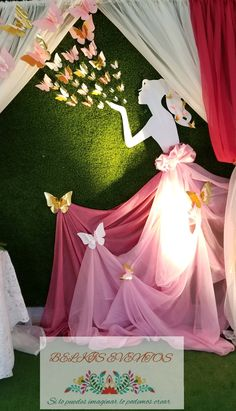 Birthday Room Decorations, Wedding Hall Decorations, Girls Party Decorations, Diwali Decorations, Butterfly Birthday Party, 1st Boy Birthday, Diy Wedding Presents, Funeral Floral Arrangements, Backdrops For Parties