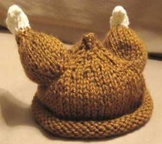 Knitted baby Turkey Hat for Free! Baby Hats Knitting, Free Knitting, Knitted Hats, Crochet Hats, Loom Knitting, Crochet Ideas, Crochet Costumes, Baby Costumes, Baby Turkey