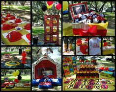 Fireman Birthday Party - like the fire hydrant toss, bag toss, and bounce house (but firetruck preferred) Fireman Party, Firefighter Birthday, Fireman Sam, Little Man Birthday, Brother Birthday, 6th Birthday Parties, Birthday Fun, Birthday Ideas, Paw Patrol Party