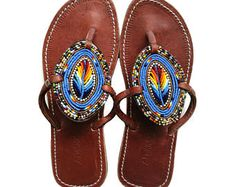 Happy customers mean everything to us! Beaded Shoes, Beaded Sandals, Blue Sandals, Bohemian Shoes, Bohemian Look, Ethnic Jewelry, Unique Jewelry, Miller Sandal, Huaraches