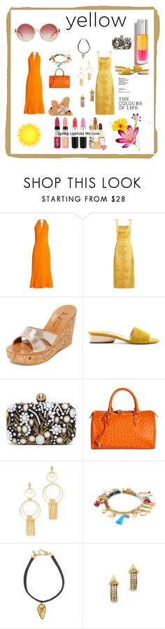 """The colors of life..."" by jamuna-kaalla ❤ liked on Polyvore featuring Proenza Schouler, The Vampire's Wife, K. Jacques, Paul Andrew, Santi, Brooks Brothers, Ettika, Shashi, Vanessa Mooney and House of Harlow 1960"