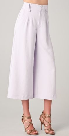 Nanette Lepore high waist, cropped, wide leg with slant hip pockets
