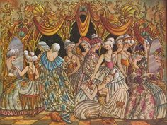I thought these illustrations (for different fairy tales) were absolutely gorgeous and in line with my inspiration for ANYTHING with colour.