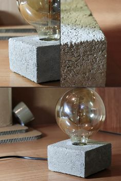 This concrete home light is perfect for modern industrial style homes. Perfect for  giving a colorful edge to your place. #concretetablelamp #tablelight #homelight #homeaccessories #homelighting #livingroomdecor #tablelight #bedroomlight #bedsidelight