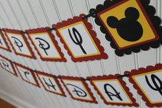 Red and Yellow Mickey Mouse Birthday Party by mycutiepieboutique, $19.00