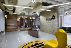 Bates Office Reception Area Environment Design | Office Architecture #interiordesign