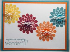 All Occasion Stamped Flower Stampin Up Handmade Card via Etsy