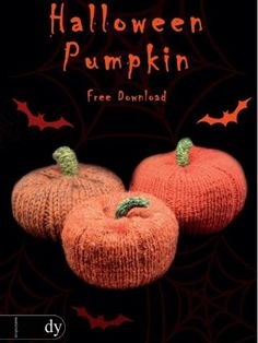 Spooky Halloween Pumpkin Toys - Noro Halloween Pumpkin Halloween Uk, Halloween Crochet, Halloween Pumpkins, Free Knitting Patterns Uk, Crochet Patterns, Knitting Books, Autumn Theme, Pattern Books, Free Crochet
