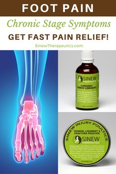 This stage begins once the swelling and inflammation are gone, but you still feel pain, stiffness, weakness, and/or sensitivity in cold and damp weather. Get fast foot pain relief and recovery by following our treatment guide based on if you have acute or chronic stage symptoms.