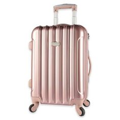 Kensie Metallic 20-Inch Expandable Carry On Spinner Suitcase - Bed Bath & Beyond