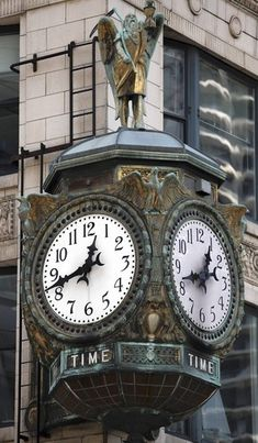 The Jewelers Building Clock, Wrigley Building, Chicago, Illinois, uncredited